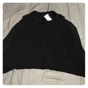 Torrid black sleeveless long blouse size 0